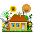 garden house vector image