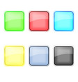 glass icons set vector image