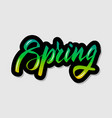 handwritten lettering typography spring drawn vector image