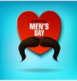 International Men s Day Men s mustache Heart vector image vector image