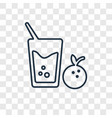 juice concept linear icon isolated on transparent vector image vector image