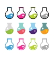 Laboratory equipment icons set vector image vector image