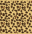 leopard seamless pattern design background vector image vector image