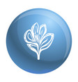 lily icon simple style vector image