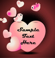 love birds valentine greeting card vector image vector image