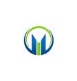 M letter business finance logo vector image vector image