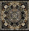 meander mandala pattern square greek key frame vector image