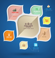 Modern info graphic with icons vector image vector image
