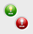 Online and offline icons vector image vector image