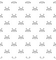 pattern with cute cat faces vector image vector image
