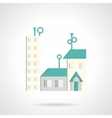 Residential district abstract flat icon vector image vector image