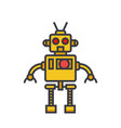 robot cool flat line concept vector image