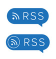 rss feed icon sign vector image