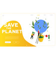 save the planet - modern colorful isometric vector image vector image
