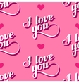 seamless pattern of handwritten I love you vector image vector image