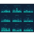 Set Indian cities linear vector image vector image