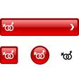 Sex button set vector image vector image