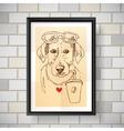 sketch of dog vector image vector image