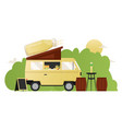 smoothie summer cafe food truck street van with vector image