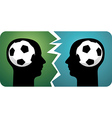 Soccer brains vector image vector image