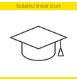 Square academic graduation cap linear icon