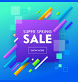 super sale banner geometric design for online shop vector image