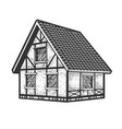timber framing house sketch vector image vector image