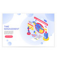 time management working time organization and vector image