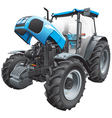 tractor with open hood vector image vector image