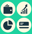 trade icons set collection of increasing payment vector image vector image