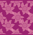 tropical silhouette flowers repeat pattern vector image vector image