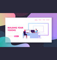virtual machines computing landing page template vector image vector image