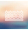 wave icon on blurred background vector image vector image