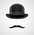 Wealthy gentleman with moustaches and bowler hat