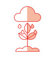 weather cloud rainy isolated icon vector image vector image