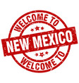 welcome to new mexico red stamp vector image vector image