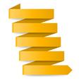 Yellow paper arrow vector image vector image