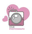 your photograph old school photo camera vector image vector image