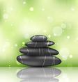 Zen spa background with pyramid stones vector image vector image