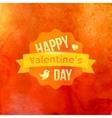 Watercolor Happy Valentines Day Typography vector image
