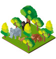 3d design for wild animals in forest vector image vector image