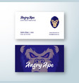 angry ape abstract sign symbol or logo vector image