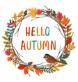 basic rgbcard design with autumn colorful frame vector image