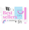 best sellers banner original banner for discount vector image
