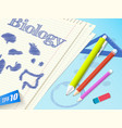 biology doodle composition vector image