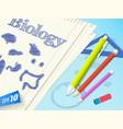 biology doodle composition vector image