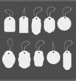 blank white paper price tags in different shapes vector image vector image