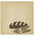 bread bakery symbol vector image vector image