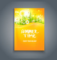 bright summer time blank vector image vector image
