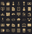 business plan icons set simple style vector image vector image